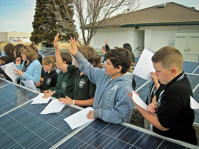 Children lesson solar energy
